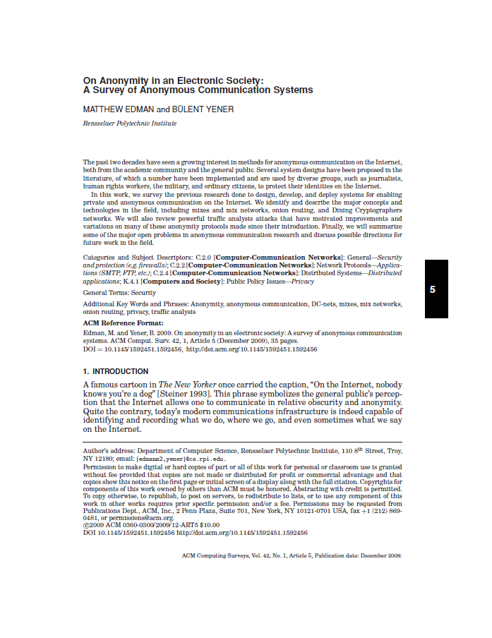 On Anonymity in an Electronic Society A Survey of Anonymous Communication Systems.png