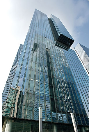 samsung town Samsung town is located on the southwestern corner of gangnam station, on subway line 2, by exits 3 and 4 samsung electronics , samsung c&t , and samsung life insurance have built three buildings which are 44-, 34- and 32-stories high, respectively.