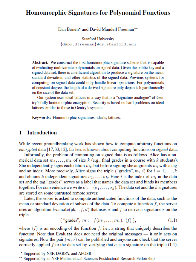 Homomorphic Signatures for Polynomial Functions.png