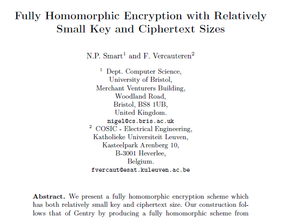 Fully Homomorphic Encryption with Relatively Small Key and Ciphertext Sizes.PNG
