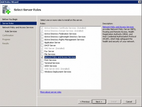 describe the policies for remote user access and authentication via dial in user services and virtua